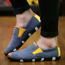 New Men's Casual Canvas Slip Ons Driving Moccasins Loafers Shoes Sneakers Z141