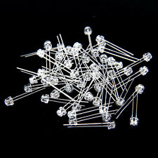 50pcs Pack 5mm Round top Straw Hat Clear Lens 2pin LED Light Emitting Diode HM