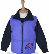 NEW British Country Collection Childs Gilet Rosette Pony Purple Sizes S - XL