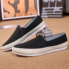 New Men's Casual Breathable Canvas Slip Ons Driving Moccasins Shoes Loafers Z155