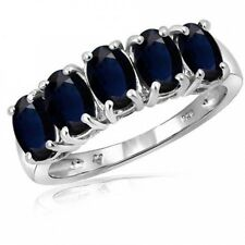 JewelersClub 3.35 Carat Sapphire Gemstone Women's Sterling Silver Ring. Best Pri