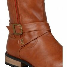Brinley Co. Womens Wide Calf Round Toe Zipper Detail Boots. Delivery is Free