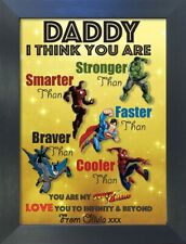 Superhero Fathers Day Christmas Gift Personalised DAD GRANDAD UNCLE GRANDPA #12