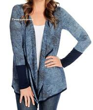 NEW - One World Tie-Dyed Knit Long Sleeved Open Front Cascade Cardigan - SZ S, M
