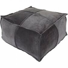 Surya Cotton Velvet Pouffe Ottoman. Shipping Included