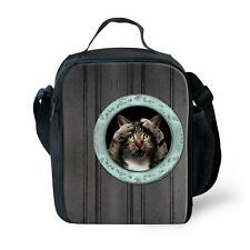 Cat Dog Childrens Kids Lunch Bags Insulated Cool Bag Picnic Bags School Lunchbox