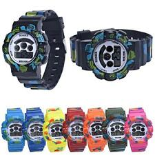 Children Girls Cool Digital Silicone LED Quartz Alarm Date Sports Wrist Watch