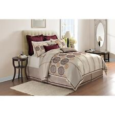Adorn Home Colette 4-Piece Bedding Comforter Set. Delivery is Free