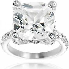Alexandria Celebrity Inspired Sterling Silver Cubic Zirconia Bridal Ring. Best P