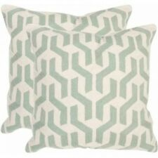 Safavieh Minos Pillow, Misty Mint, Set of 2. Free Shipping