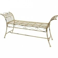 Oriental Furniture Rustic Iron Garden Bench. Brand New