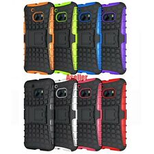 For HTC One M10 3D 2-Layer Shock Skip Proof Grenade Grip Rugged Hard Hybrid Case