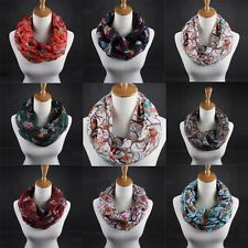 Fashion Scarf Ladies Owl Pattern Print Scarf Warm Wrap Shawl