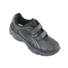 Puma Axis 184973 R.R.P.£35.00 Boys Twin Adjustable Strap Leather Trainers
