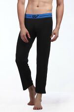Mens Soft and Silky PJ Pants Black