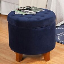 HomePop Large Button-Tufted Round Storage Ottoman. Shipping is Free