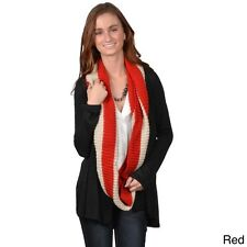 Journee Collection Women's Striped Knit Infinity Scarf. Free Delivery