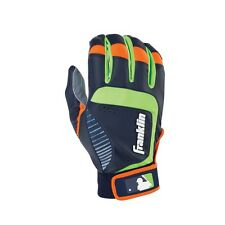 Franklin Sports Shok-Sorb Neo Batting Glove Grey/Navy/Lime Youth Small. Shipping