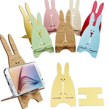 New Universal Cell Phone Wood Mount Stand Holder For iPhone For Samsung Phone