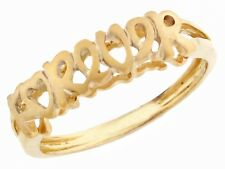 10k / 14k Solid Yellow Gold 'forever' Band Ring Jewelry