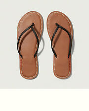 Abercrombie & Fitch Leather Flip Flops Womens