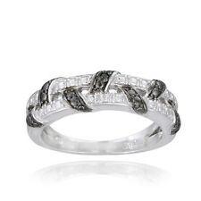DB Designs Black Diamond Accent Weave Ring. Shipping Included
