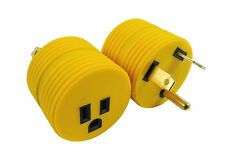RV Electrical Adapter 15 Amp Female to 30 Amp Male 15A Female to 30A Male Round