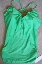 Seafolly Bright Lime Shimmer Tankini Singlet Top Sz 8AU/4US NWT RRP $130