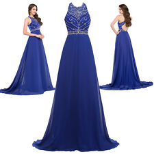 Maxi Bridal Long Chiffon Evening Gown Bridesmaid Dress Prom Formal Party Gowns