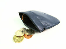 Mens Ladies Super Soft Real Leather Snap Top Coin Pouch Purse Wallet Card Holder