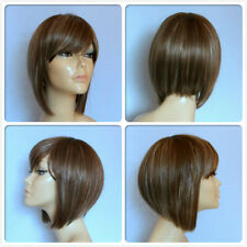 high heat resistant fibre super sleek short lady wig T-0161