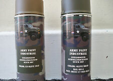 2 X OLIVE DRAB or 1942 US OLIVE Army Spray Paint Cans 400ml Military Spec US