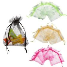 50pcs Butterfly Organza Jewelry Gift Pouch Favour Bags Wedding Party 9 x 12cm