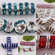 Wholesale 50/100X Hot Czech Crystal Rhinestone Glass Round Loose Spacer Bead 8MM