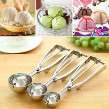 Stainless Steel Ice Cream Craft Scoop Cookie Dough Mash Muffin Spoon 4/5/6cm