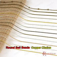 5 meters 1MM 1.2MM 1.5MM 2MM Copper Round ball beads Necklace Chains 2585