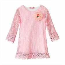 Toddler Flower Girls Dress Casual Lace Baby Kids Princess Summer Holiday Party