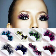 1Pair Utility Colorful Natural Makeup Lashes Feather Fake False Eyelashes Tools