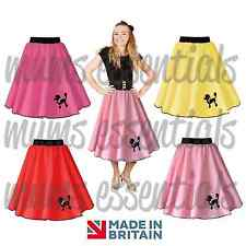 50s Polyester POODLE SKIRT, Swing Rock and Roll, Plus Size,Dance, Fancy Dress
