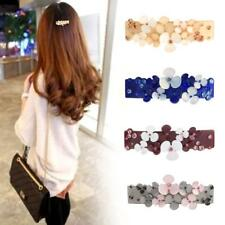 Beauty Women Fashion Hair Clip Flower Crystal Rhinestone Hair Barrette Hairpin
