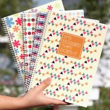 B5 Spiral Coil Plastic Fresh Cover Notebook Diary Journal Student Note Memo #JP