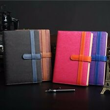 A5 Frosted Leather Ruled Notebook Diary Journal Note Memo Pen Holder Bookmark #J