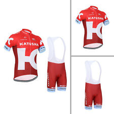 2016 Fashion Mens Cycling Short Sleeve Jerseys Bib Pad Shorts Outfits Fit S-3XL
