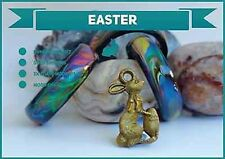 Easter Special 3x Black Agate Colour Changing Mood Rings + FREE Bunny Pendant !!
