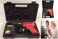 New Electric Soldering Iron Solder Gun Kit 3 Tips Case Workplace Home Hobby