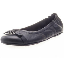 Tommy Hilfiger Appleton Womens Flat Ballerinas Leather Black New Shoes