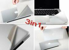 3in1 Surface Protector 3M Sticker Aluminum Unibody Skin Cover for Apple Macbook