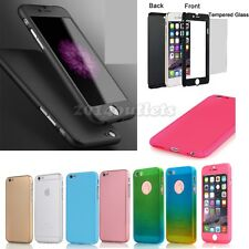 Ultra-Thin Shockproof Hybrid Hard Case Cover Tempered Glass For iPhone 6s/6 Plus