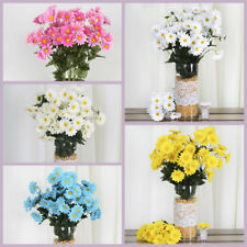 4 bushes 88 SILK DAISY Flowers Wedding Party Home DECORATIONS WHOLESALE SUPPLIES