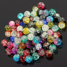 Wholesale New Crystal Crack Glass Round Loose Spacer Beads Charm 4/6/8/10/12MM